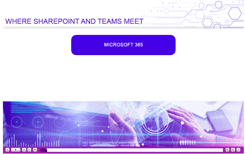 link to content on sharepoint and teams